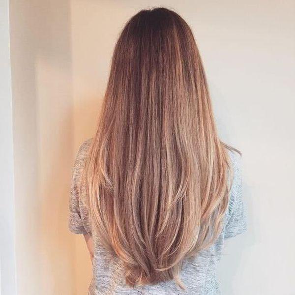 Corte de cabello en capas largas 2
