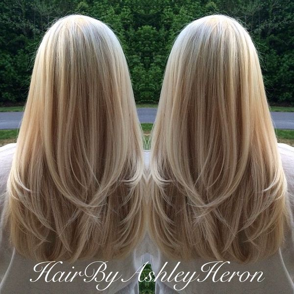 Corte de cabello en capas largas desvanecidas 3