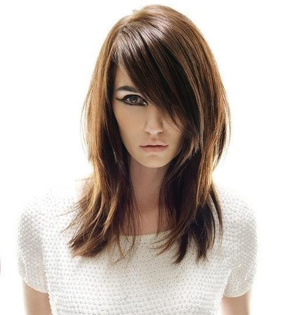 Corte de cabello en dos capas una larga y otra corta 1