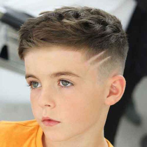 Cortes de cabello modernos con diseo para nios 3
