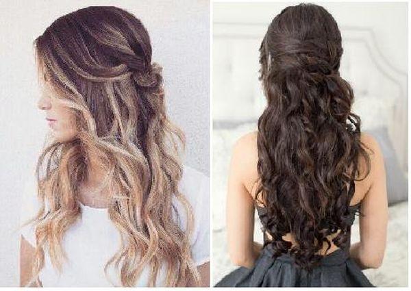 Peinados de fiesta de noche para cabello largo 2