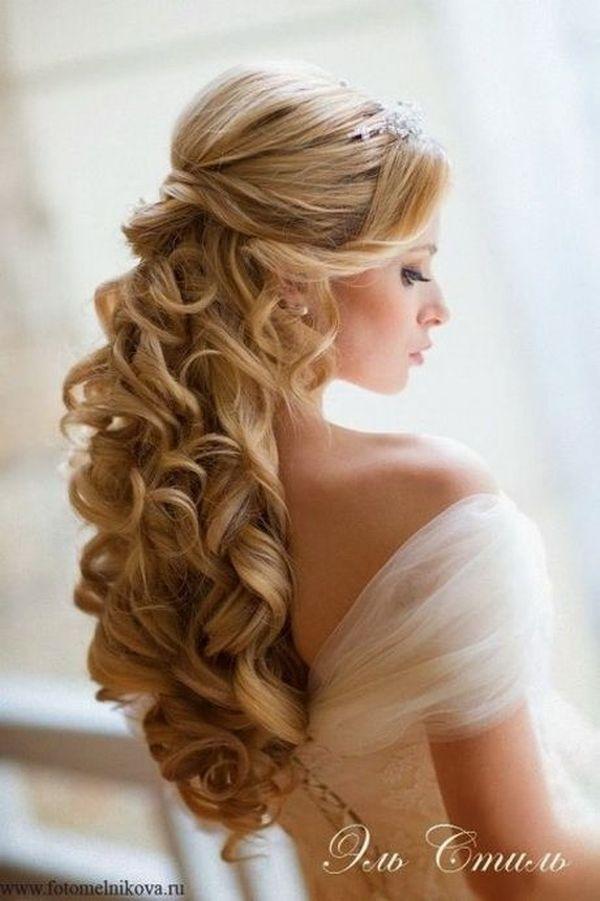Peinados elegantes para fiestas de noche para cabello suelto 1
