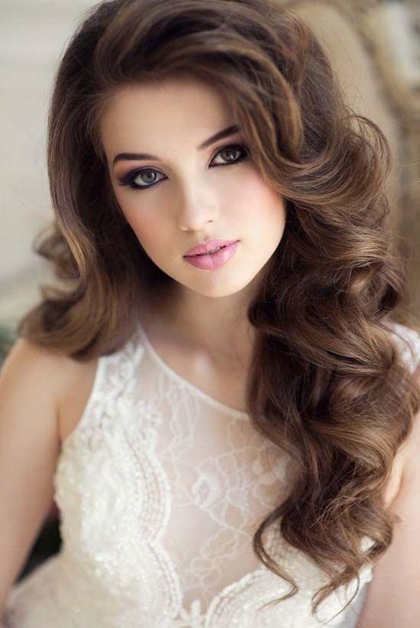 Peinados elegantes para fiestas de noche para cabello suelto 2