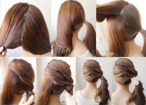 Peinados fciles para pelo largo paso a paso 2