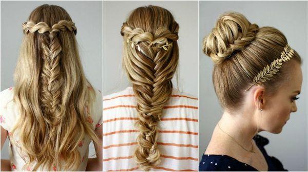 Peinados para fiestas con trenzas 2