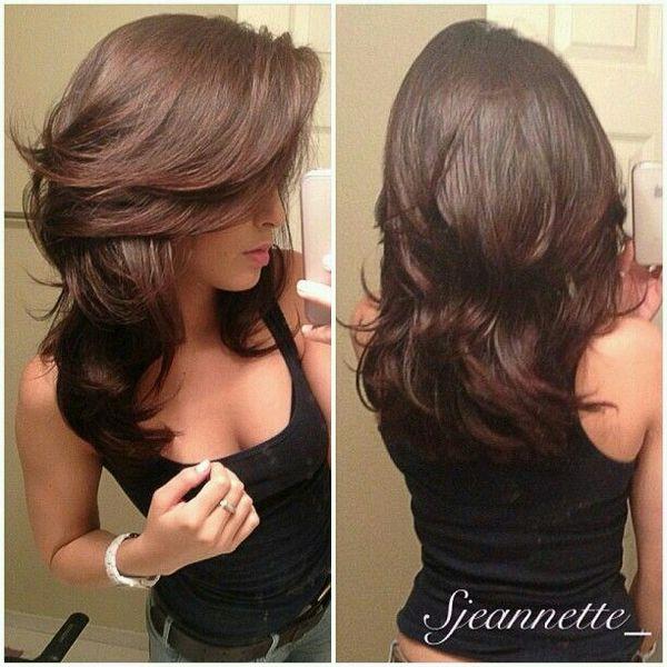 orte de cabello en capas largas por detrs 3