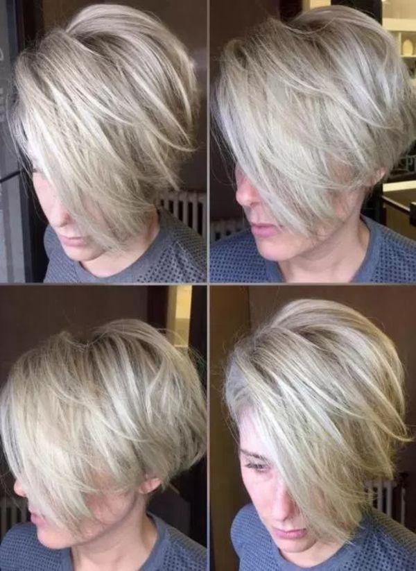 Peinados bonitos para cabello corto en capas 4
