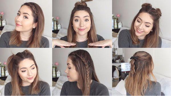 Peinados elegantes para cabello corto con rizos 1