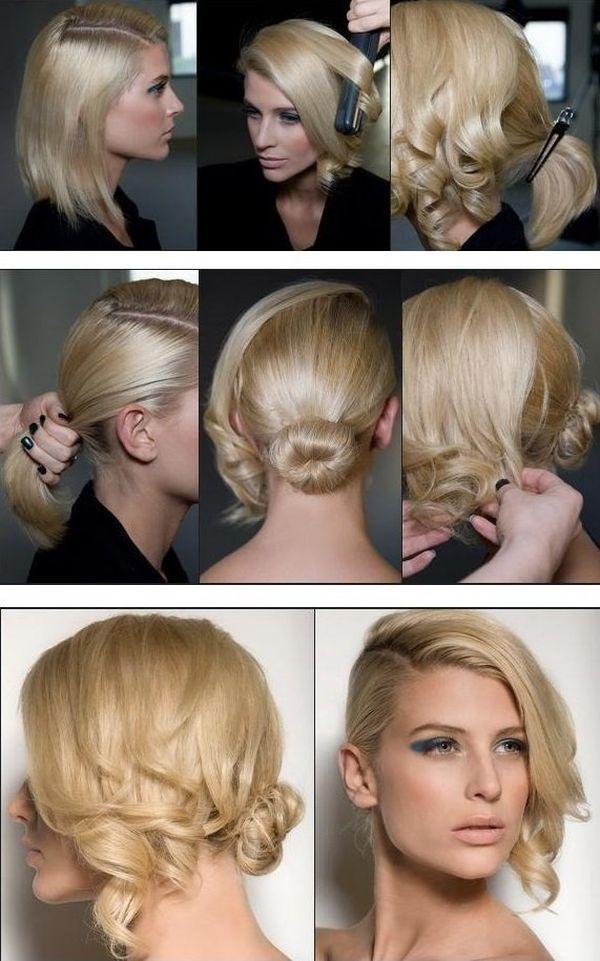 Peinados elegantes para cabello corto con rizos 2
