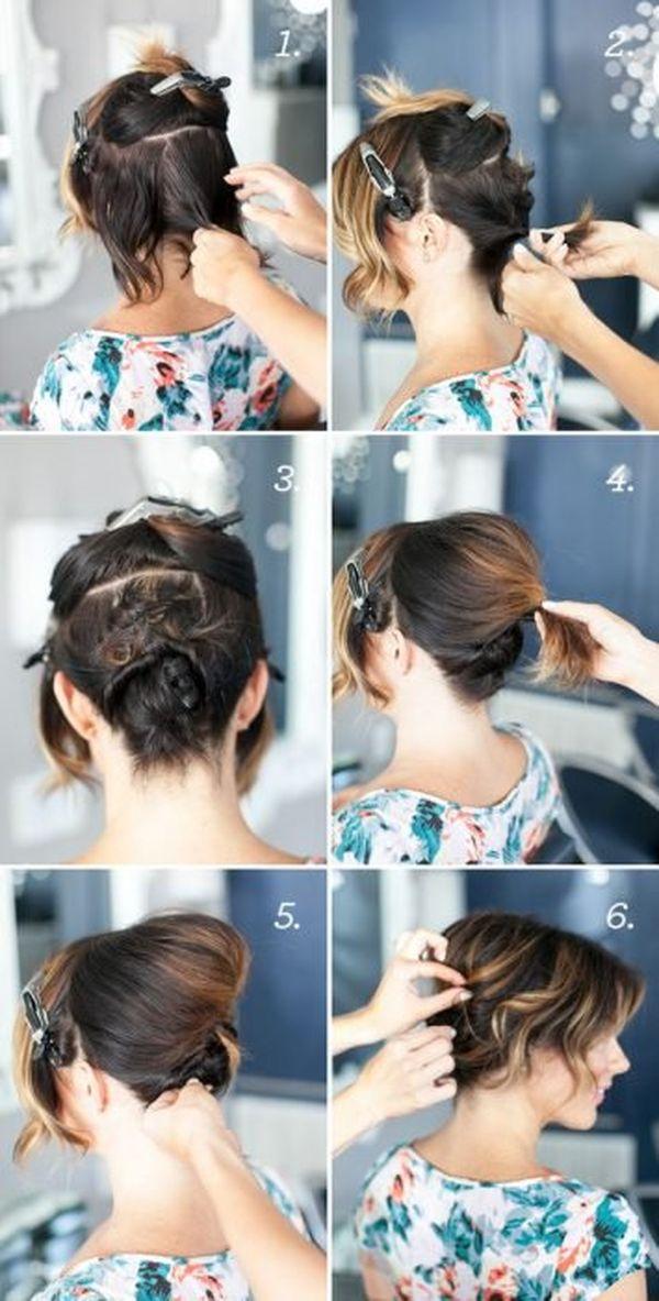 Peinados elegantes para cabello corto con rizos 3