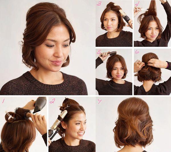 Peinados elegantes para cabello corto con rizos 6