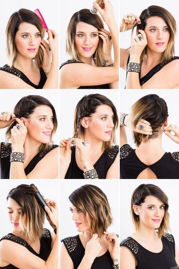Peinados fciles y rpidos para cabello corto 2