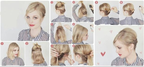 Peinados fciles y rpidos para cabello corto 5
