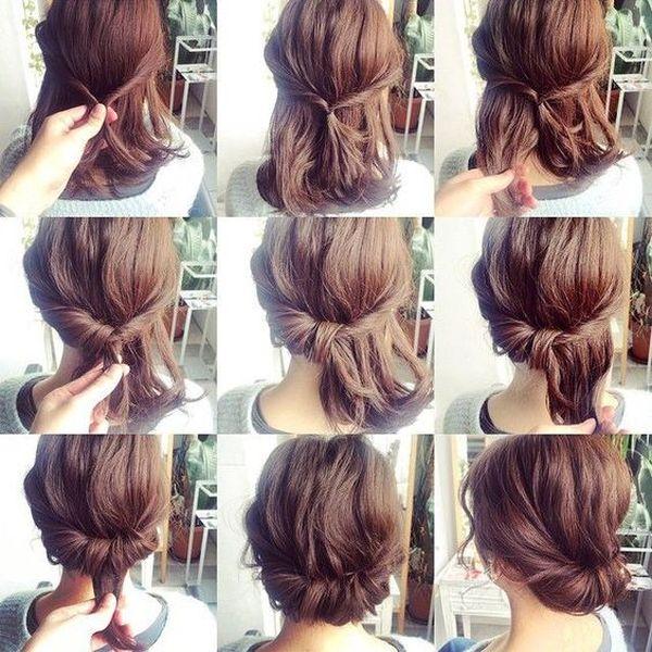 Peinados recogidos para cabello corto 2