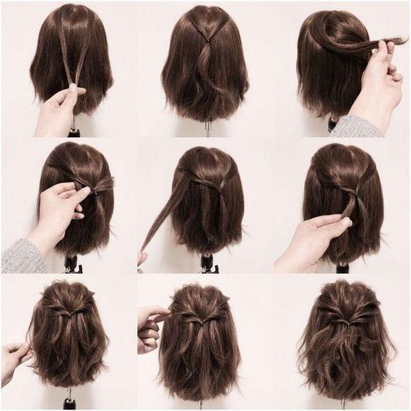 Peinados recogidos para cabello corto 3