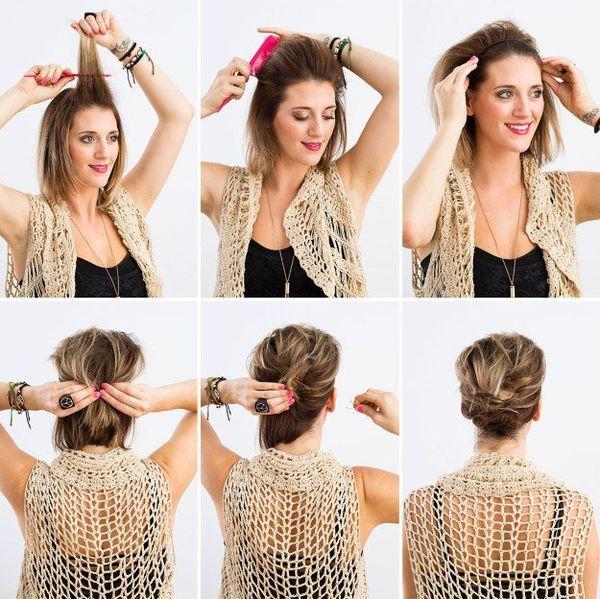Peinados recogidos para cabello corto 4