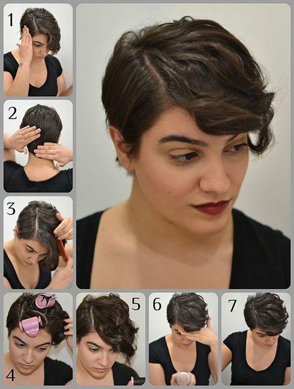 Peinados sencillos para cabello muy corto 4