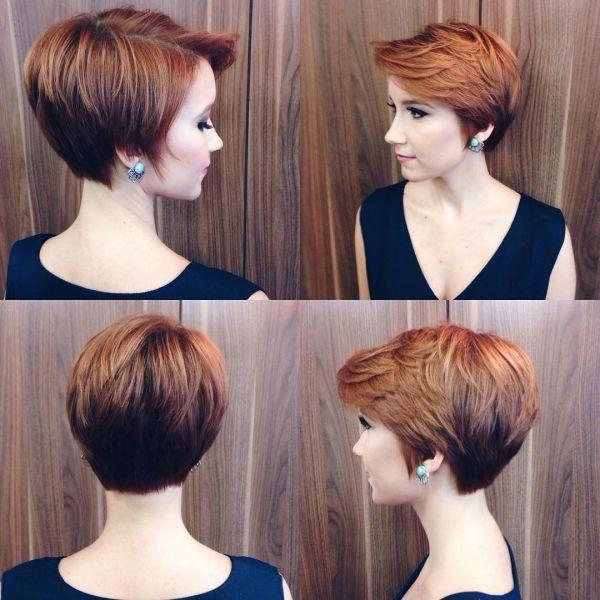 Aktuelle Frauenfrisuren mit kurzen Haaren 2019 1