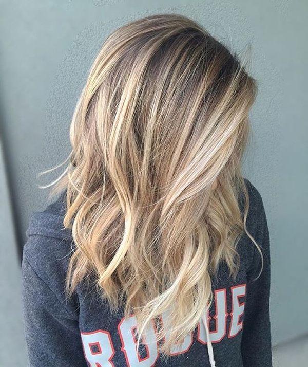 Balayage fr blonde lange Haare 1