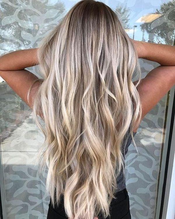 Balayage fr blonde lange Haare 2