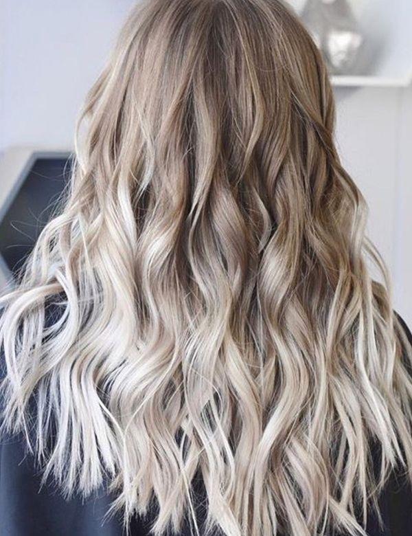 Balayage fr die blonden Haare mit Strhnen 3