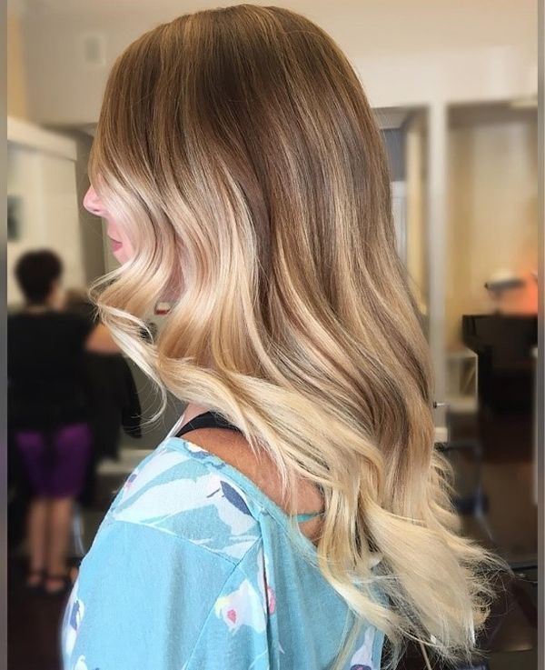 Balayage kann fr dunkelblonde Haare eingesetzt werden 1