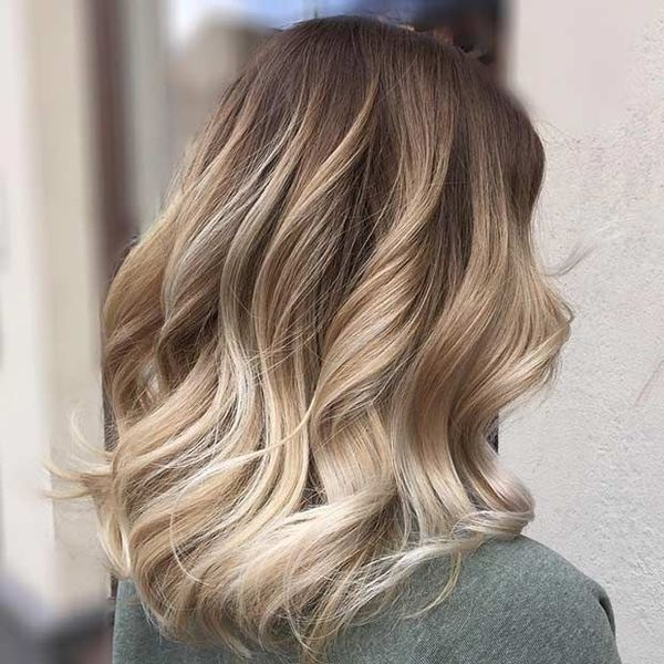 Frisuren Long Bob fr blondes Haar 1
