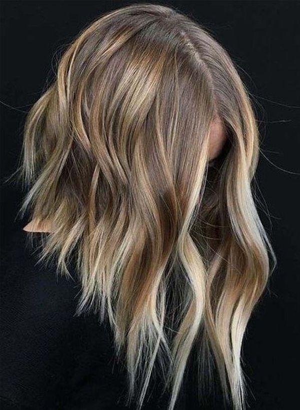 Frisuren Long Bob fr blondes Haar 5