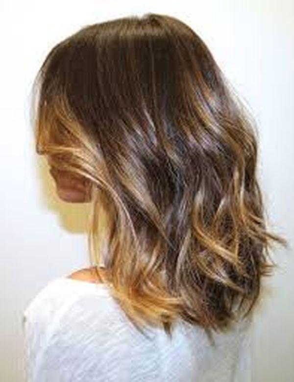 Long Bob fr braunen Haarschnitt 3