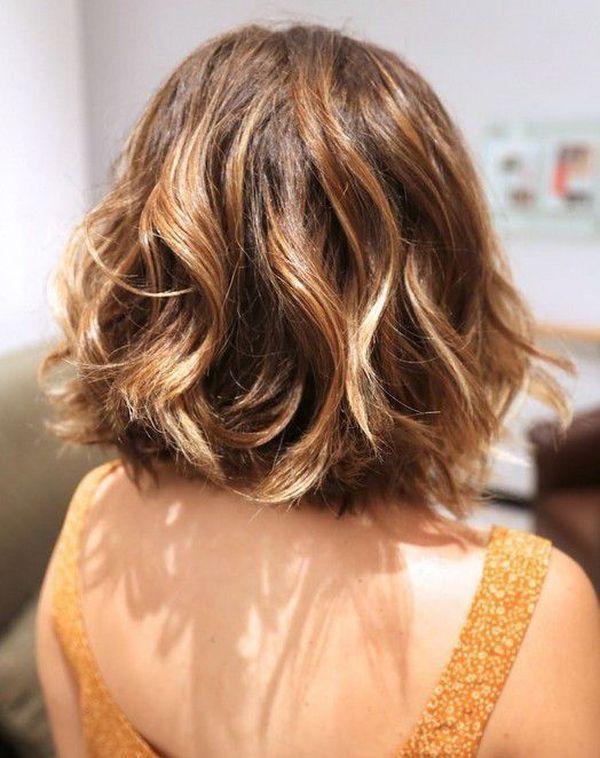 Long Bob fr braunen Haarschnitt 5