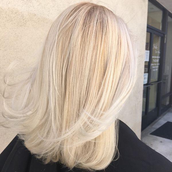 Mittellange blonde Haare knnen dank2