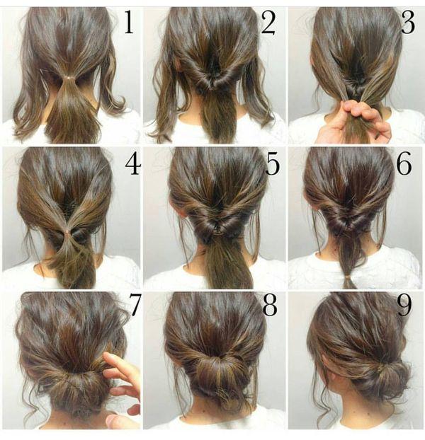 Peinados casuales con el pelo recogido 2