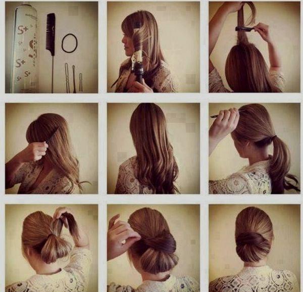 Peinados casuales con el pelo recogido 3