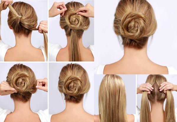 Peinados de chongos sencillos y elegantes 1