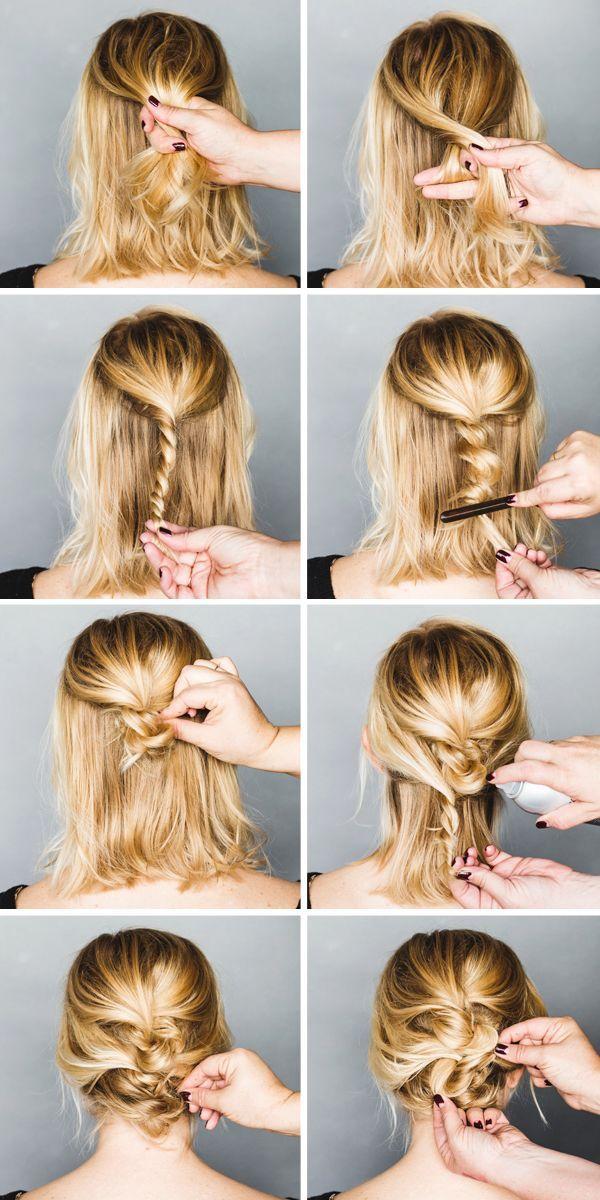 Peinados juveniles con el pelo recogido 2