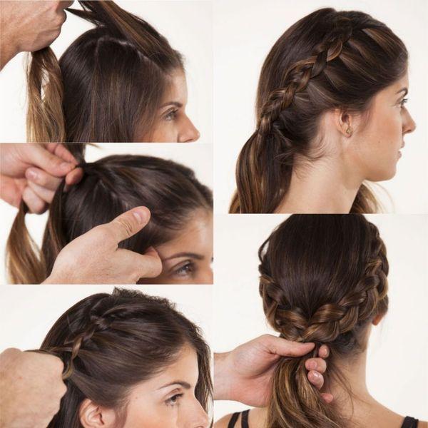 Peinados juveniles con el pelo recogido 3