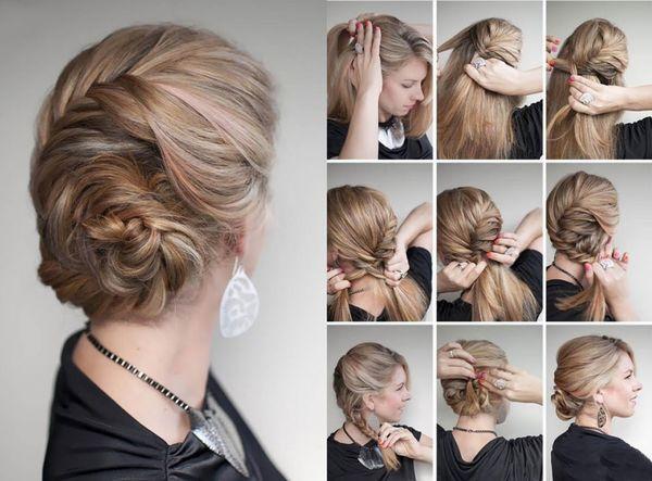 Peinados modernos con cabello recogido 5
