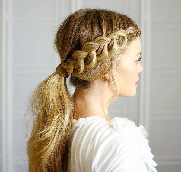Peinados recogidos con trenzas 1