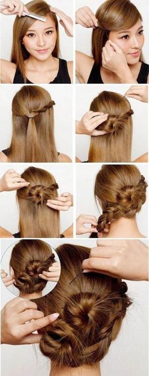 Peinados recogidos con trenzas 3