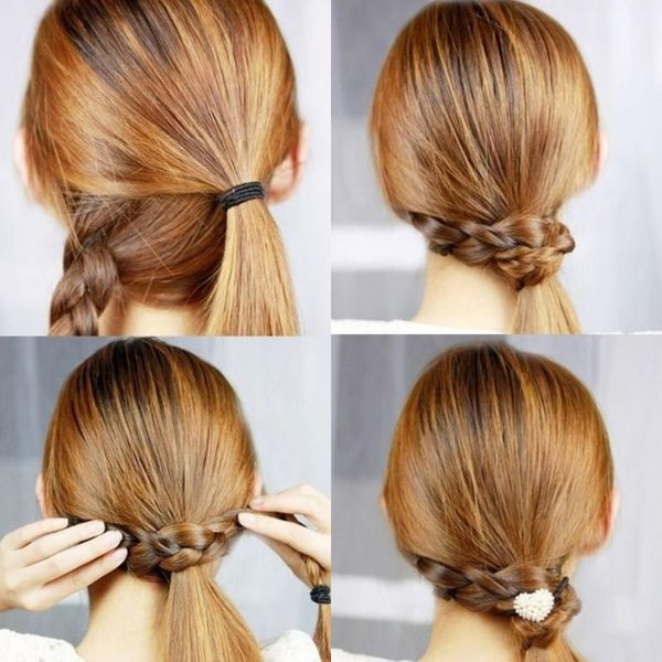Peinados recogidos con trenzas 4