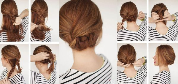 Peinados recogidos sencillos paso a paso 1