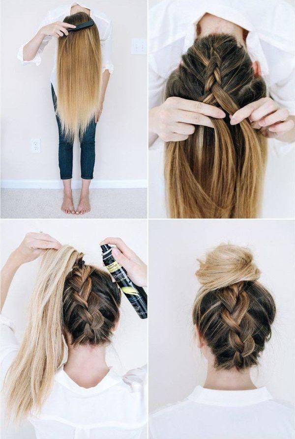 Peinados recogidos sencillos paso a paso 3