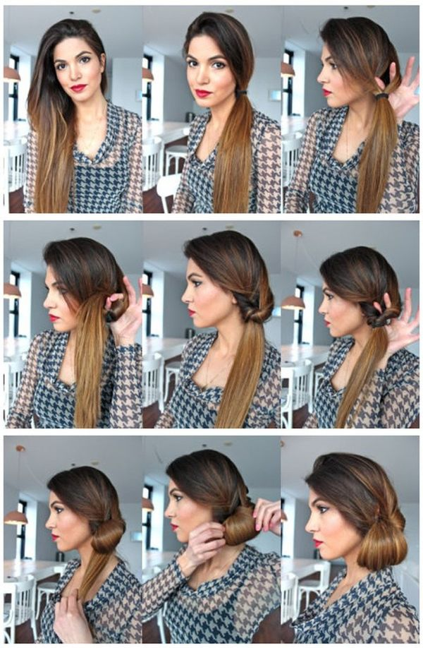 Peinados recogidos sencillos paso a paso 5