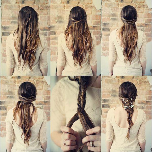 Peinados sencillos para fiestas paso a paso 1