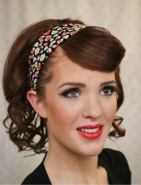 Rockabilly Haare Pin Up Frisur mit Haarband 3