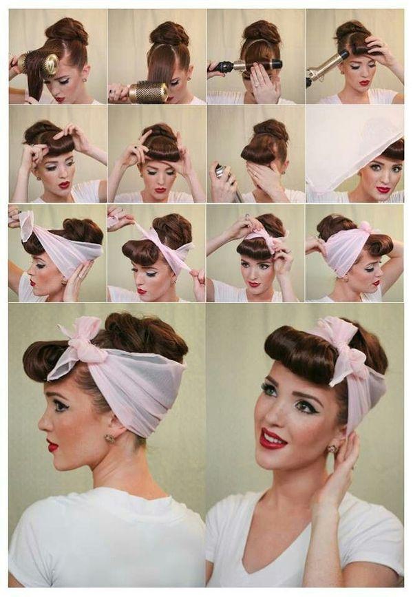 Rockabilly Style Frisur fr Damen selber machen 1