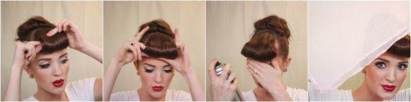 Rockabilly Style Frisur fr Damen selber machen 7