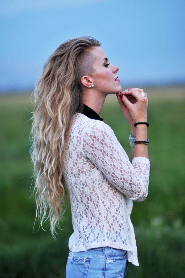 Sidecut fr Frauen mit langen Haaren 2