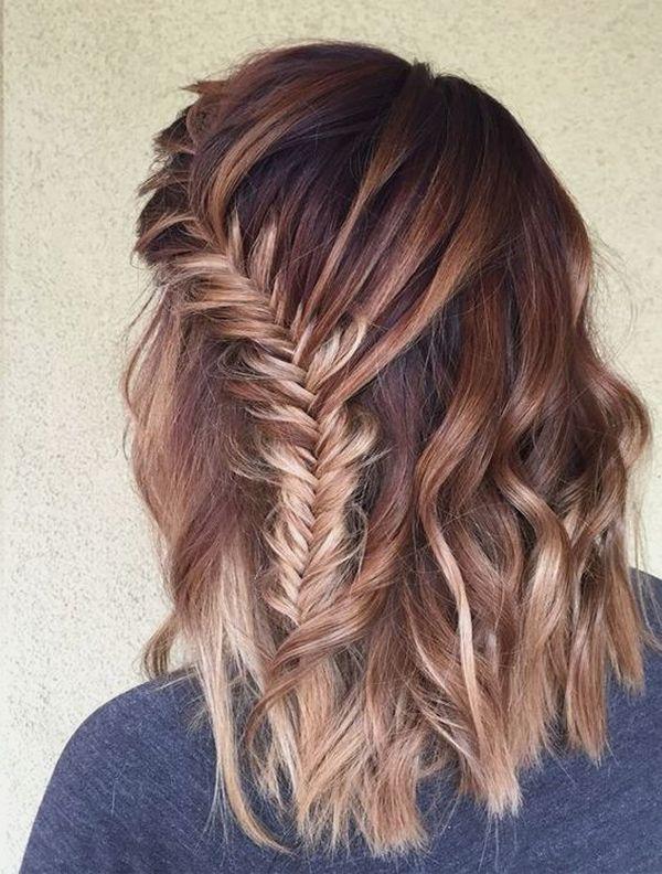 Einfache Flechtfrisuren fr mittellange Haare 2