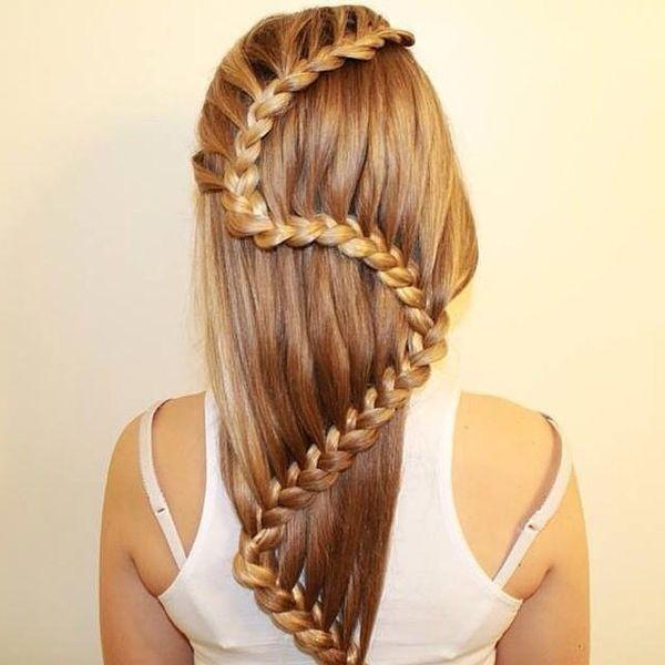 Einfache und schnelle Frisuren fr lange Haare 2